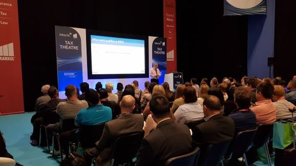 Tax Cloud's employee David Farbey delivering an accountants guide to R&D tax relief at Accountex 2019