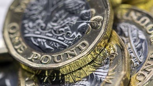 New UK One Pound Coin in panoramic format